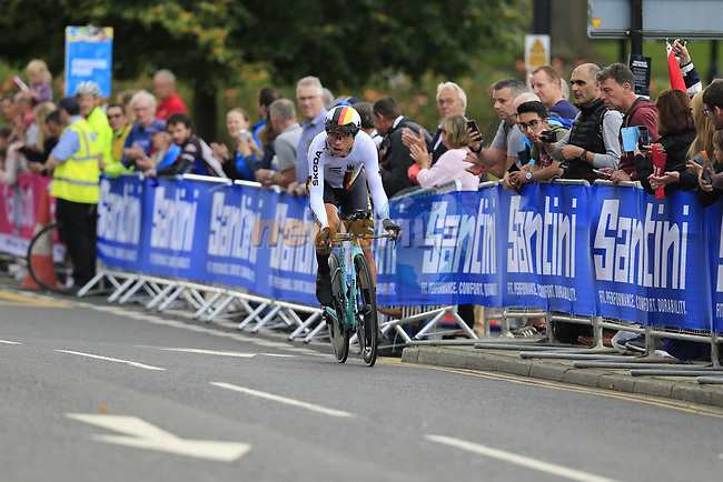 Tony Martin (GER) in action during the Men Elite Individual Time Trial of the UCI World Championships 2019 running 54km from Northallerton to Harrogate, England. 25th September 2019.<br /> Picture: Eoin Clarke | Cyclefile<br /> <br /> All photos usage must carry mandatory copyright credit (© Cyclefile | Eoin Clarke)