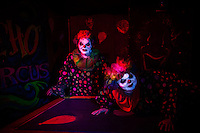 Clowns at the Psycho Circus attraction at Reapers Realm
