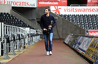 Wednesday, 23 April 2014<br /> Pictured: Angel Rangel arriving.<br /> Re: Swansea City FC are holding an open training session for their supporters at the Liberty Stadium, south Wales,