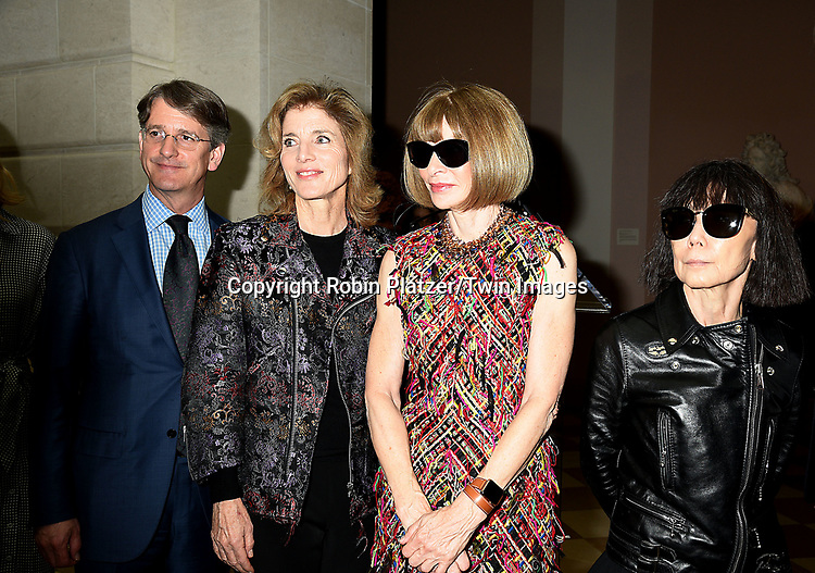Thomas Campbell,Caroline  Kennedy,Anna Wintour and Rei  Kawakuboattends the Press Preview of Rei Kawakubo/Comme des Garcons: Art of the In-Between exhibit at The Costume Institute at the Metropolitan Museum of Art on May 1, 2017 in New York, New York, USA. <br /> <br /> photo by Robin Platzer/Twin Images<br />  <br /> phone number 212-935-0770