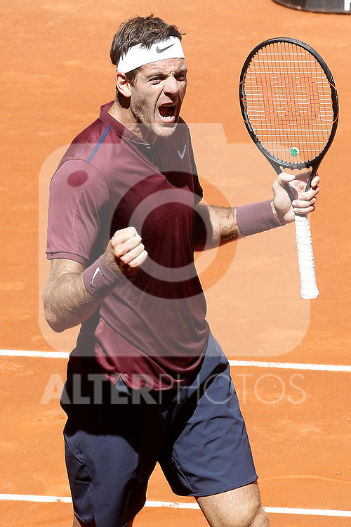 Juan Martin Del Potro, Argentina, during Madrid Open Tennis 2016 match.May, 3, 2016.(ALTERPHOTOS/Acero)