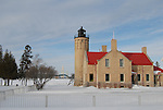 Old Mackinac Point Lighthouse winter