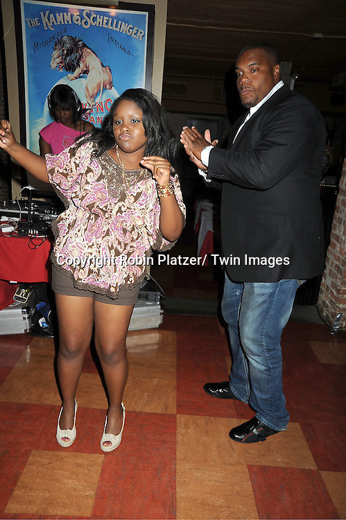 Shenell Edmonds and Sean Ringgold attending the Shenell Edmonds Fan Club Dance Party on ..August 14, 2011 at HB Burger's Sunken Bar in New York City. Shenell plays Destiny Evans on One Life to Live.