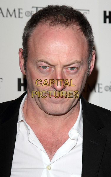 Liam Cunningham.Launch Party for release of Season One DVD of ''Game Of Thrones' at Old Vic Tunnels, London, England..February 29th 2012.headshot portrait black white shirt .CAP/ROS.©Steve Ross/Capital Pictures
