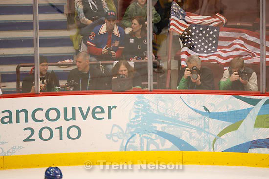 Trent Nelson  |  The Salt Lake Tribune.USA vs. Sweden, women's hockey, at the XXI Olympic Winter Games in Vancouver, Monday, February 22, 2010. photographers