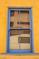 Blue Window and Yellow Adobe - Arizona