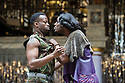 London, UK. 18.09.2013. THE LIGHTNING CHILD by Che Walker and Arthur Darvill. A Shakespeare's Globe production, directed by Matthew Dunster. With Clifford Samuel as Pentheus and Tommy Coleman as Dionysus. Opens at Shakespeare's Globe Theatre on 14th September until 12th October. Photograph © Jane Hobson.