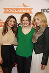 Nasim Pedrad, Vanessa Bayer, Abby Elliott attend the Portlandia Season 2 Premiere Screening on January 5, 2012 at the American Museum of Natural History, New York City, New York. (Photo by Sue Coflin/Max Photos)