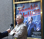 Frankie Valli unveiling the Theatre Marquee for 'Frankie Valli and The Four Seasons on Broadway' celebrating the group's 50th Anniversary with their first ever concert at the Broadway Theatre in New York City on 8/30/2012