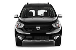 Car photography straight front view of a 2015 Dacia Dokker Stepway 5 Door Minimpv Front View