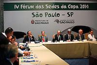 SAO PAULO, 29 DE JUNHO DE 2012. IV FORUM DAS SEDES DA COPA 2014.  o IV Forum das sedes da copa 2014 no Palacio dos Bandeirantes em São Paulo. FOTO: ADRIANA SPACA - BRAZIL PHOTO PRESS