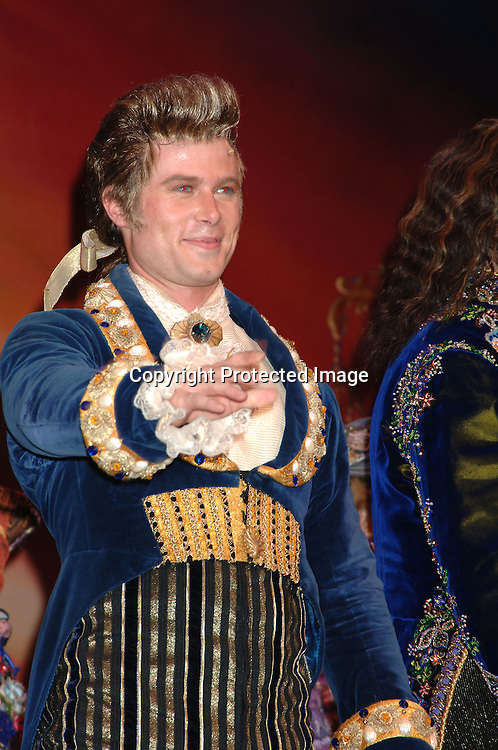 "Jacob Young at the curtain call ..at The 5000th performance of ""Beauty and The Beast"" party on June 20, 2006 at Planet Hollywood...Jacob Young of All My Children is starring as Lumiere. ..Robin Platzer, Twin Images"