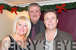 PALS: Eileen and Tony Cooper and Damian Greer bringing in the New Year at The Greyhound Bar, Tralee, on Sunday night..