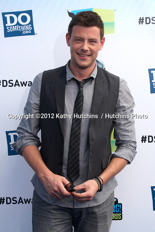 Los Angeles - AUG 19:  Cory Monteith arrives at the 2012 Do Something Awards at Barker Hanger on August 19, 2012 in Santa Monica, CA