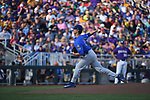 OMAHA, NE - JUNE 26: Brady Singer (51) of the University of Florida pitches against Louisiana State University during the Division I Men's Baseball Championship held at TD Ameritrade Park on June 26, 2017 in Omaha, Nebraska. The University of Florida defeated Louisiana State University 4-3 in game one of the best of three series. (Photo by Jamie Schwaberow/NCAA Photos via Getty Images)