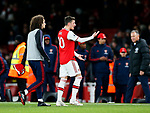 Arsenal's Mesut Ozil appears to argue with the fans at the final whsitle during the Premier League match at the Emirates Stadium, London. Picture date: 5th December 2019. Picture credit should read: David Klein/Sportimage