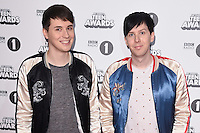 Philip Lester and Daniel Howell<br /> at the Radio 1 Teen Awards 2016, Wembley Arena, London.<br /> <br /> <br /> ©Ash Knotek  D3188  22/10/2016