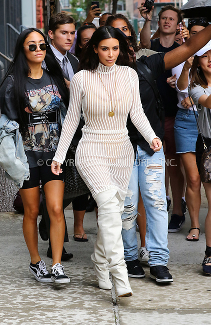 www.acepixs.com<br /> <br /> September 7 2016, New York City<br /> <br /> Kim Kardashian leaves her downtown apartment on September 7 2016 in New York City<br /> <br /> By Line: Zelig Shaul/ACE Pictures<br /> <br /> <br /> ACE Pictures Inc<br /> Tel: 6467670430<br /> Email: info@acepixs.com<br /> www.acepixs.com