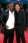 "Actors Michael Beach and Anthony Ruivivar arrive at the Los Angeles Premiere Of ""Tropic Thunder"" at the Mann's Village Theater on August 11, 2008 in Los Angeles, California."