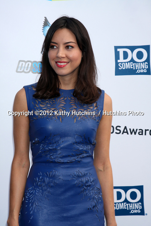 Los Angeles - AUG 19:  Aubrey Plaza arrives at the 2012 Do Something Awards at Barker Hanger on August 19, 2012 in Santa Monica, CA