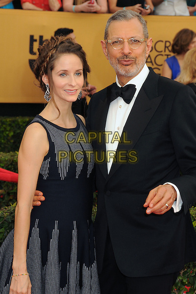 25 January 2015 - Los Angeles, California - Emilie Livingston, Jeff Goldblum. 21st Annual Screen Actors Guild Awards - Arrivals held at The Shrine Auditorium. <br /> CAP/ADM/BP<br /> &copy;BP/ADM/Capital Pictures