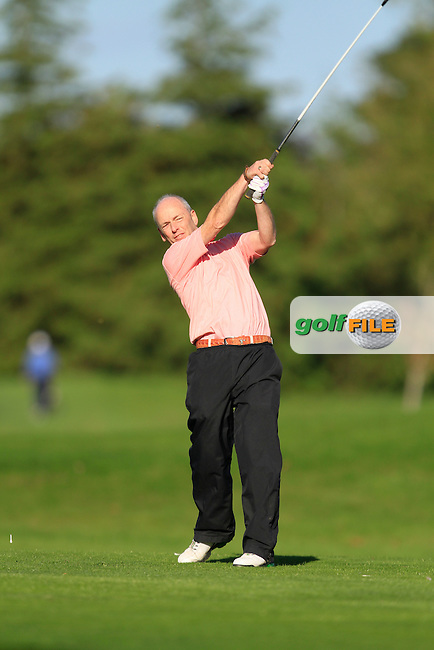 Seamus Clinton (Letterkenny G.C) on the 13th tee during Round 1 of The Cassidy Golf 103rd Irish PGA Championship in Roganstown Golf Club on Thursday 10th October 2013.<br /> Picture:  Thos Caffrey / www.golffile.ie