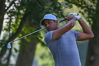Julian Suri (USA) watches his tee shot on 11 during 1st round of the 100th PGA Championship at Bellerive Country Cllub, St. Louis, Missouri. 8/9/2018.<br /> Picture: Golffile | Ken Murray<br /> <br /> All photo usage must carry mandatory copyright credit (© Golffile | Ken Murray)