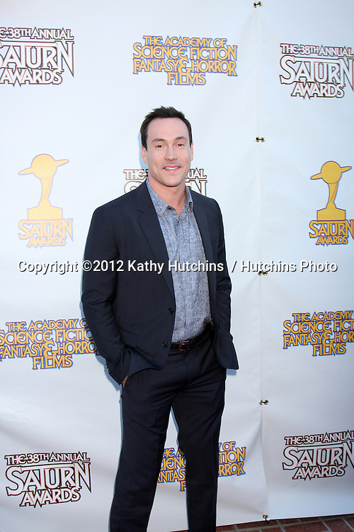 LOS ANGELES - JUL 26:  Chris Klein arrives at the 2012 Saturn Awards at Castaways on July 26, 2012 in Burbank, CA