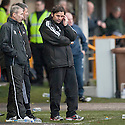 Alloa Manager Paul Hartley suffers as he sees his side beaten at home.