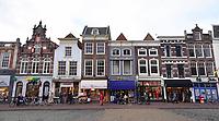 Nederland - Gouda - December 2018.  Winkels aan de markt in Gouda.   Foto Berlinda van Dam