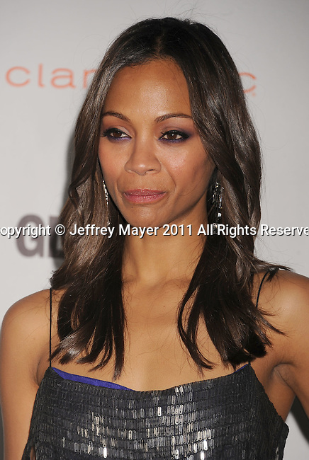 LOS ANGELES, CA - OCTOBER 24: Zoe Saldana attends the Glamour Reel Moments at DGA Theater on October 24, 2011 in Los Angeles, California.