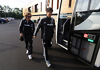 Wednesday 07 August 2013<br /> Pictured L-R:  Jose Canas and Ki Sung Yueng departing from the Swansea Training ground.  <br /> Re: Swansea City FC travelling to Sweden for their Europa League 3rd Qualifying Round, Second Leg game against Malmo.