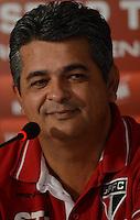 SÃO PAULO,SP,06 marco 2013 - TREINO SAO PAULO - Tecnico Ney Franco em entrevista coletiva durante treino do Sao Paulo no CT da Barra Funda , zona oeste de Sao Paulo, na manha desta quarta feira. O time se prepara para o jogo  contra Arsenal de Sarandi da Argentina em Sao Paulo valido pela primeira fase da Taca Libertadores da America 2013. FOTO ALAN MORICI - BRAZIL FOTO PRESS
