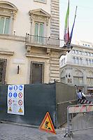 Roma, 24 Agosto 2012.Piazza Colonna.Palazzo Chigi.Durante il Consiglio dei Ministri