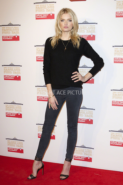 WWW.ACEPIXS.COM<br /> <br /> February 24 2015, London<br /> <br /> Lily Donaldson at the First Fabulous Fund Fair at the Roundhouse on February 24 2015 in London<br /> <br /> By Line: Famous/ACE Pictures<br /> <br /> <br /> ACE Pictures, Inc.<br /> tel: 646 769 0430<br /> Email: info@acepixs.com<br /> www.acepixs.com