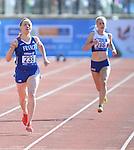 IPC European Athletics Championship 2014<br /> Swansea University<br /> <br /> Nantenin Keita (FRA), left, and Erin McBride (GBR) - women's 400m T13<br /> <br /> 19.08.14<br /> Chris Vaughan-SPORTINGWALES