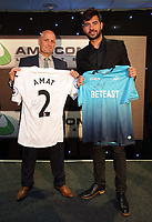Pictured: Alun Pritchard with Jordi Amat Wednesday 18 May 2017<br />Re: Swansea City FC, Player of the Year Awards at the Liberty Stadium, Wales, UK.