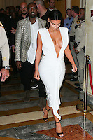 LAS VEGAS, NV, USA - OCTOBER 25: Kanye West, Kim Kardashian West arrive at Kim Kardashian West's 34th Birthday Celebration held at TAO Nightclub at The Venetian Las Vegas on October 25, 2014 in Las Vegas, Nevada, United States. (Photo by Xavier Collin/Celebrity Monitor)