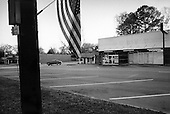 Wedowee, Alabama.USA.March 31, 2003..A small town draped with flags and patriotism down its main street.