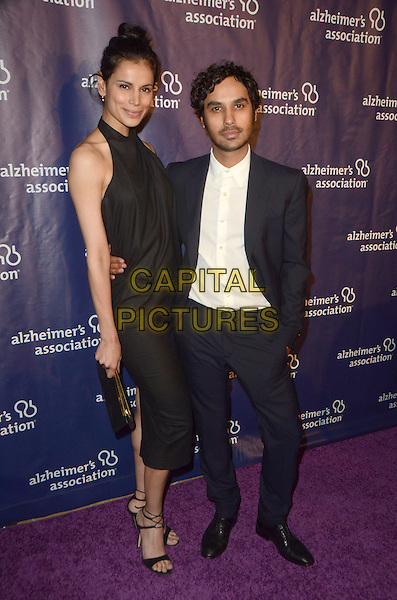BEVERLY HILLS, CA: MARCH 9: Neha Kapur and Kunal Nayyar at the 24th and final 'A Night at Sardi's' to benefit the Alzheimer's Association at The Beverly Hilton Hotel on March 9, 2016 in Beverly Hills, California. <br /> CAP/MPI/DE<br /> &copy;DE//MPI/Capital Pictures