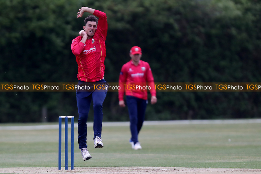 Essex bowler Matt Dixon in bowling action during Essex CCC 2nd XI vs Surrey CCC 2nd XI, Second XI Trophy Cricket at Billericay Cricket Club on 3rd May 2017
