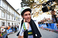 Picture by Simon Wilkinson/SWpix.com - 26/09/2018 - Cycling 2018 Road Cycling World Championships Innsbruck-Tiriol, Austria - Individual Time Trial Men Elite - Rohan Dennis of Australia celebrates.