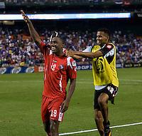 Luis Tejada 18 Of Panama Celebrates Converting The Winning Penalty Kick With Teammate Luis