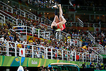 Brinn Bevan (GBR),<br /> AUGUST 8, 2016 - Artistic Gymnastics :<br /> Brinn Bevan of Great Britain competes on the vault in the Men's Team Final at Rio Olympic Arena during the Rio 2016 Olympic Games in Rio de Janeiro, Brazil. (Photo by Yuzuru Sunada/AFLO)