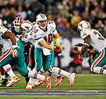 7 December 2008: Miami Dolphins' quarterback Chad Pennington in action against the Buffalo Bills during the first regular season NFL game ever to be played in Canada. The Dolphins defeated the Bills 16-3 at the Rogers Centre in Toronto, Ontario. ..Mandatory Photo Credit: Ed Wolfstein Photo