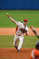 Illinois State Redbirds Jack Landwehr (18) during a game against the Bowling Green Falcons on March 11, 2015 at Chain of Lakes Stadium in Winter Haven, Florida.  Illinois State defeated Bowling Green 8-7.  (Mike Janes/Four Seam Images)