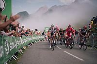 up the last climb of the 2018 Tour: the Col d'Aubisque (HC/1709m/16.6km@4.9%)<br /> <br /> Stage 19: Lourdes > Laruns (200km)<br /> <br /> 105th Tour de France 2018<br /> ©kramon
