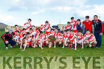 An Ghaeltacht celebrate after winning the West Kerry Minor final against Castlegregory last Saturday afternoon in Lispole.