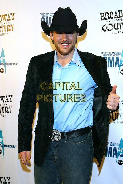 CHRIS YOUNG.Broadway Meets Country, a benefit for TPAC Education and The Actors' Fund held at the Tennessee Performing Arts Center, Nashville, Tennessee, USA..October 30th, 2006.Ref: ADM/RR.half length jacket black hat stetson.www.capitalpictures.com.sales@capitalpictures.com.©Randi Radcliff/AdMedia/Capital Pictures