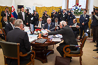 20th anniversary summit of the Visegrad 4 Group in Visegrad, Hungary on October 08, 2011. ATTILA VOLGYI